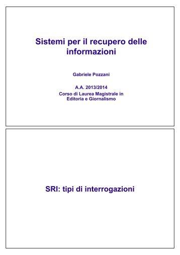Tipi di Query (pdf, it, 235 KB, 10/9/13)