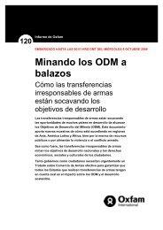 Minando los ODM a balazos Cómo las transferencias ... - Control Arms