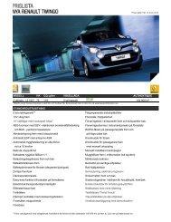Prislista - Renault