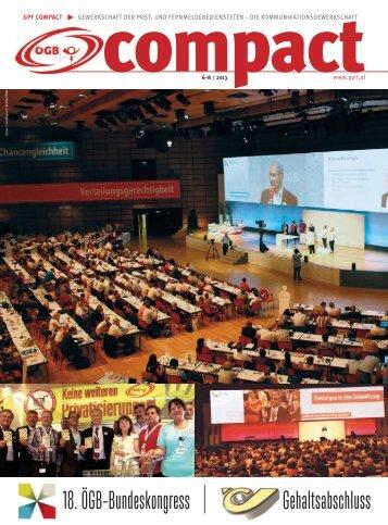 Ausgabe Nr. 6-8 2013 - Gewerkschaft der Post- und ...