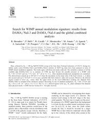 Search for WIMP annual modulation signature: results from ...