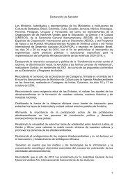 1 Declaración de Salvador Los Ministros, Autoridades y ... - Afro-Latino