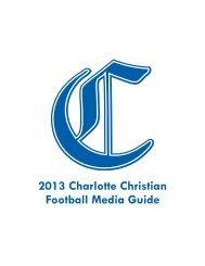 Advertising in the Football Media Guide - Charlotte Christian School