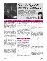 Condo Cases across Canada - Fall 2006 - Nelligan O'Brien Payne