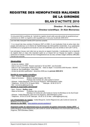 Bilan d'activité 2010