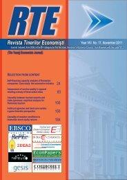 Revista Tinerilor Economiºti - Centru E-learning de Instruire al ...