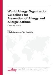 World Allergy Organization Guidelines for ... - ResearchGate