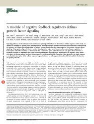A module of negative feedback regulators defines growth factor ...