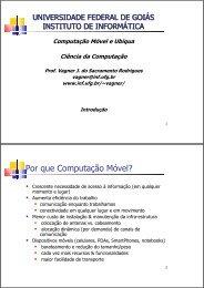 Introdução - Instituto de Informática - UFG