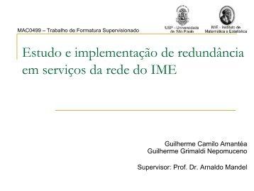 Estudo e implementação de redundância em serviços da rede do IME