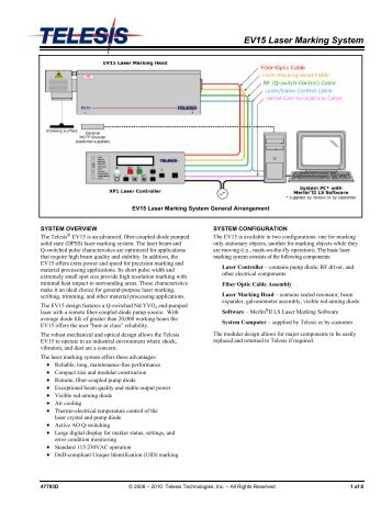 EV15 Laser Marking System - Telesis Technologies, Inc.