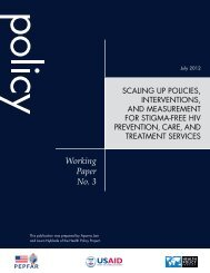 Scaling Up Policies, Interventions, and Measurement for Stigma ...