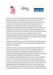 Europa 2020-Strategie: Auswirkungen für Arbeitnehmer - EZA