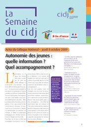 Actes du colloque 2009 - Cidj