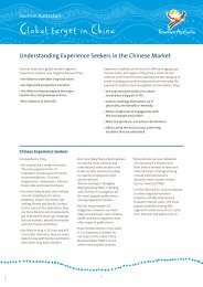 Understanding Experience Seekers in the ... - Tourism Australia