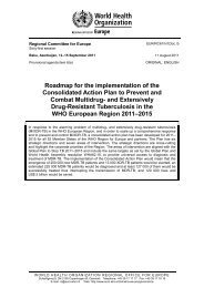 MDR-TB Action Plan - World Health Organization Regional Office for ...