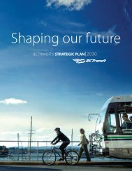 BC TRANSIT'S STRATEGIC PLAN 2030