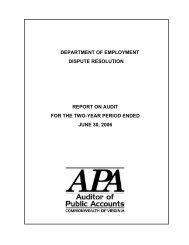Department of Employment Dispute Resolution for the two-year ...