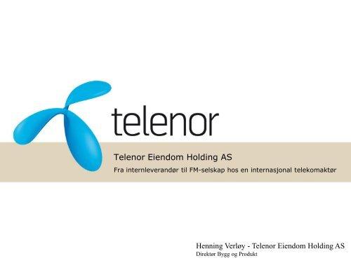 Strategisk nivå Operativt nivå Telenor Eiendom 1995