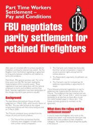 bulletin - Fire Brigades Union