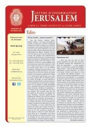 Février 2013 - Patriarcat latin de Jérusalem