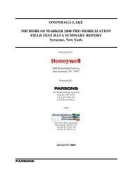 Microbead Marker 2008 Pre-Mob Field Test Data Summary Report
