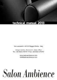 technical manual 2013 - Salon Ambience