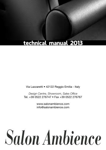 technical manual 2013 - Salon Ambience