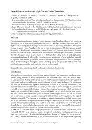 Establishment and use of High Nature Value Farmland - European ...
