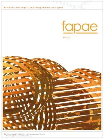 Studio für Grafik-Design, 3D Visualisierung, Animation und ... - fapae