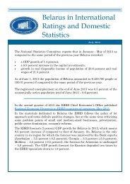 Belarus in International Ratings and Domestic Statistics