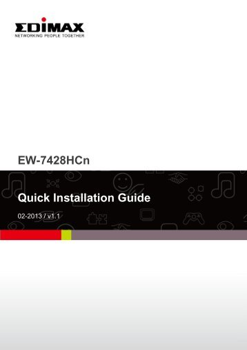 EW-7428HCn Quick Installation Guide - Edimax