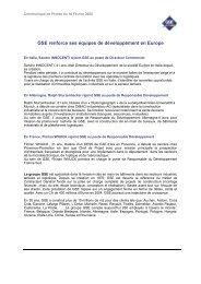 COMMUNIQUE DE PRESSE – 9 Février 2005 - Gse