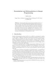 M. Trick, Formulations and reformulations in integer programming. En