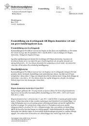 Framställning om överklagande till Högsta domstolen i ett mål om ...