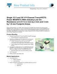 Single 12 V and 30 V P-Channel TrenchFET® Power MOSFETs ...