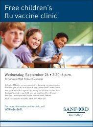 Free children's flu vaccine clinic - Sanford Vermillion