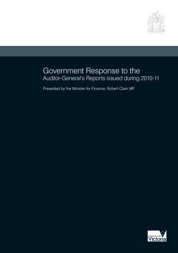Government Response to the - Department of Treasury and Finance ...
