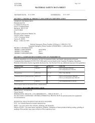 MATERIAL SAFETY DATA SHEET - Fishman and Son, Inc.