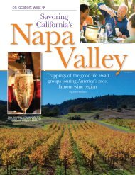 Savoring California's Napa Valley - Leisure Group Travel