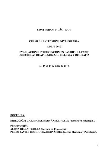 contenidos didácticos curso de extensión universitaria adeje 2010 ...