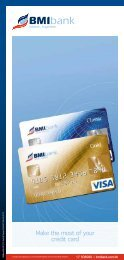 Make the most of your credit card - BMI