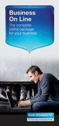 Business On Line brochure - Business Banking - Bank of Ireland