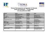 Lista de Presença - arquivo .pdf - Secretaria do Meio Ambiente e ...