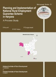 Haryana Final - National Institute of Rural Development