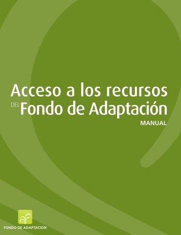 Acceso a los recursos DELFondo de Adaptación - Adaptation Fund