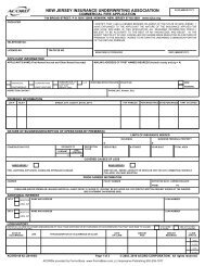 new jersey insurance underwriting association - ACORD Forms