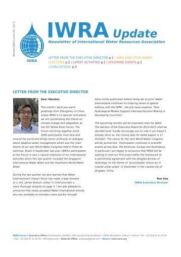 IWRA Update September 2012