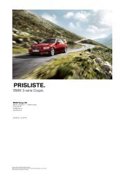 Last ned. Gyldig prisliste for BMW M3 Coupé (PDF, 628k).
