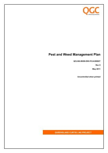 Pest and Weed Management Plan - QGC